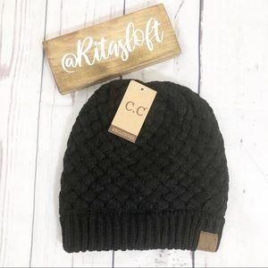 C.C Beanie Basket Weave Ribbed Knit Hat Cap